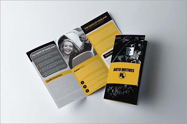 Automobile Tri-Fold Brochure Template