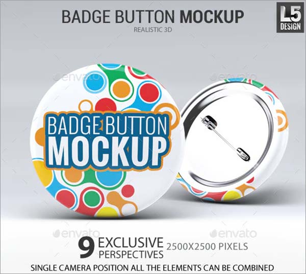 Badge Button Mock-Up