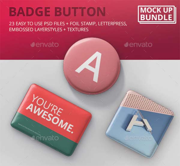 Badge Button Mockup Bundle