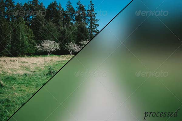 Blur Background Action PSD Set