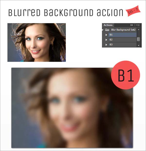 Blur Background Action Set