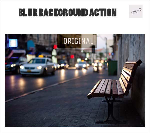 Blur Background PSD Action Set
