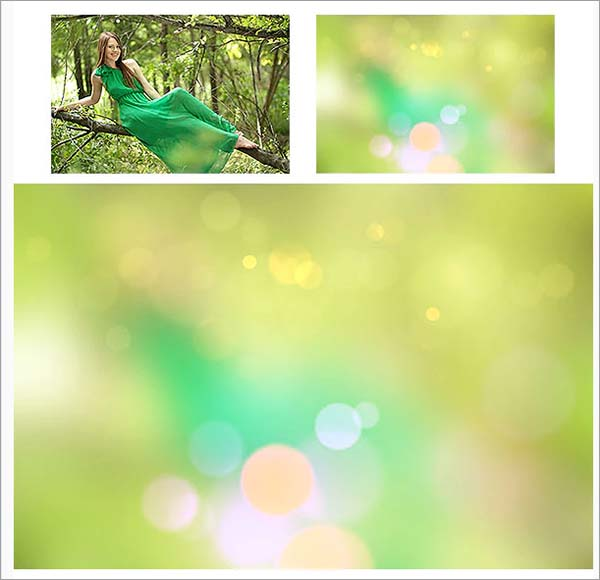 Bokeh Blurred Background Photoshop Action