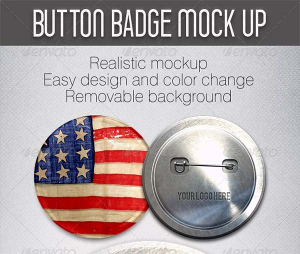 Button PSD Badge Mockup