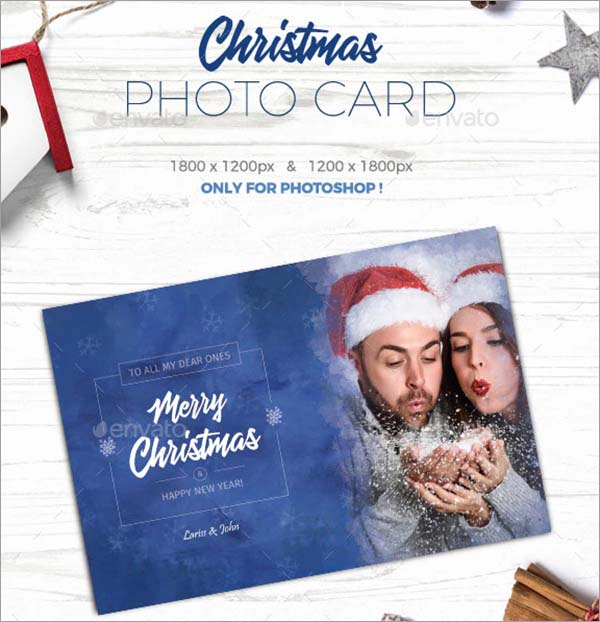 42 Christmas Photo Card Templates Free Photoshop Vector Downloads