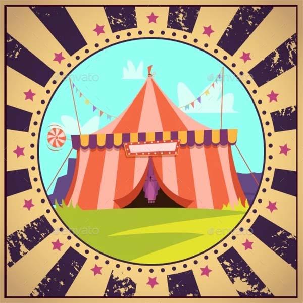 Circus Cartoon Poster Template