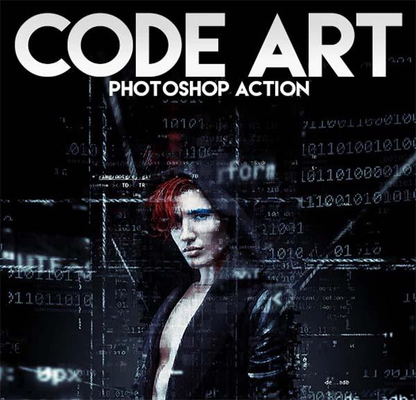 Code Art Photoshop Action File
