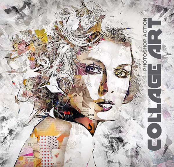 Collage Art PSD Actions Design