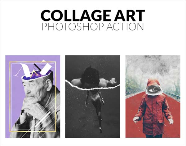 Collage Art Photoshop Action Design