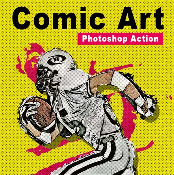 Comic Art Photoshop Action File