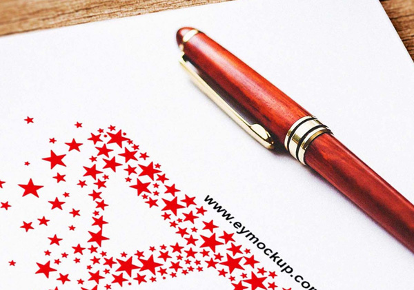 Cool Logo Mockup With Pen