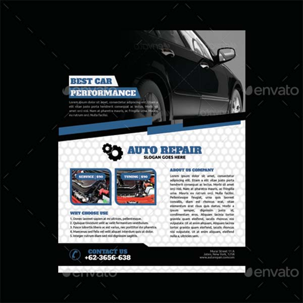 Corporate Automobile Flyer Template