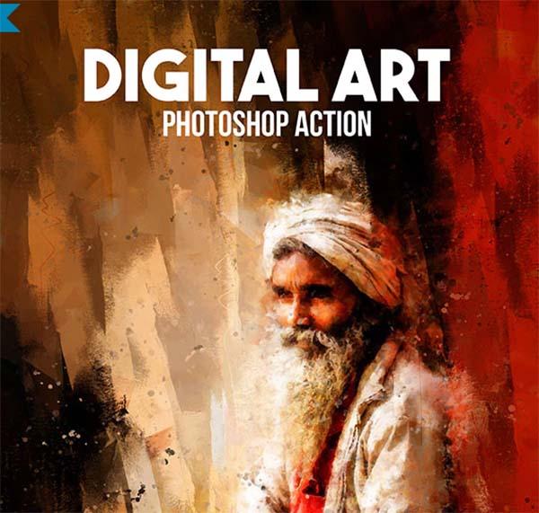 Digital Art Photoshop Action Design