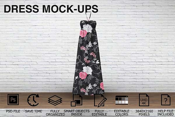 Dress Mockups Clothing Mockups