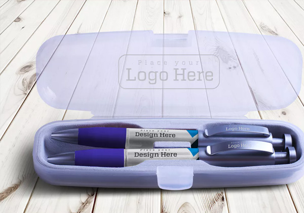 Editable Free Download Pen Mockup