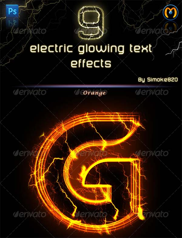 Electric Glowing Effect Photoshop Action