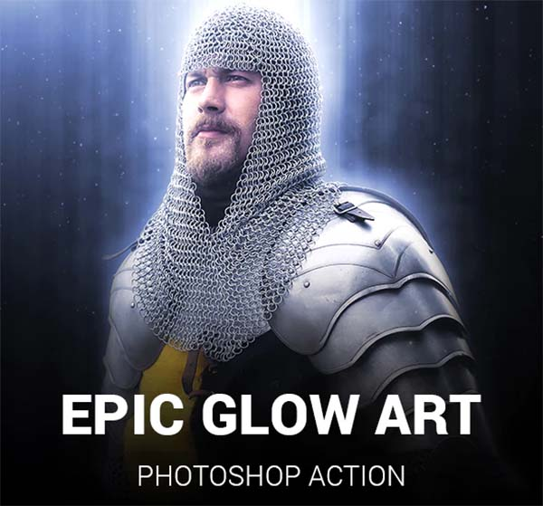 Epic Glow Art Photoshop Action