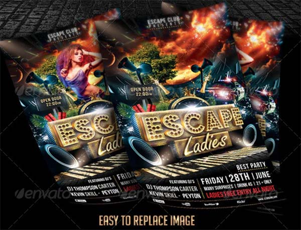 Escape Ladies Flyer Template