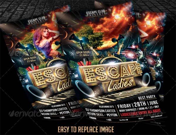 Escape Ladies Flyer Template