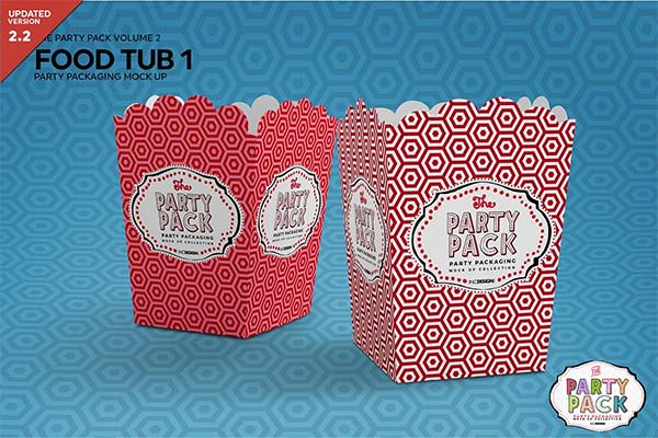 Food Tub Packaging Mockup