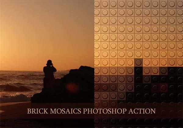 Free Brick Mosaics Photoshop Actions
