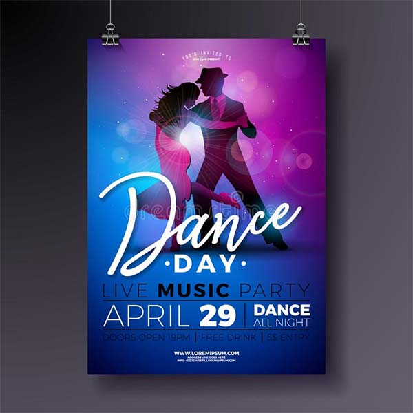 Free Dance Day Party Flyer Design