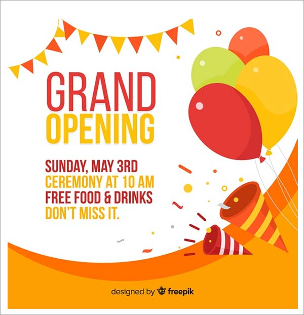 Free Grand Opening Flyer Templates