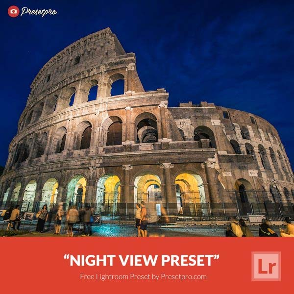 Free Lightroom Preset Night View