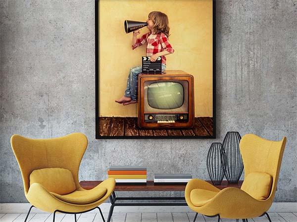 Free Living Room Poster Mockup