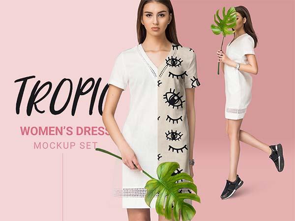 Free PSD Women Dress Mockup