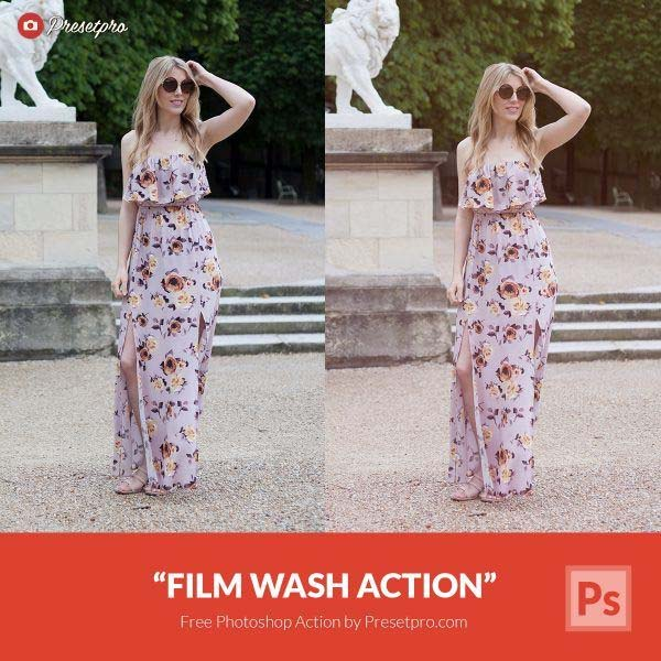 Free Photoshop Action Film Wash