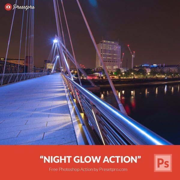 Free Photoshop Action Night Glow