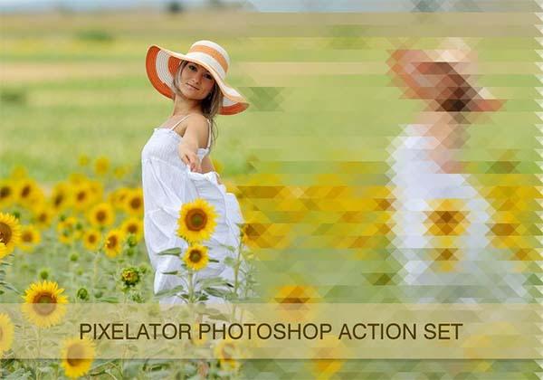 Free Pixelator Pixel Photoshop Actions