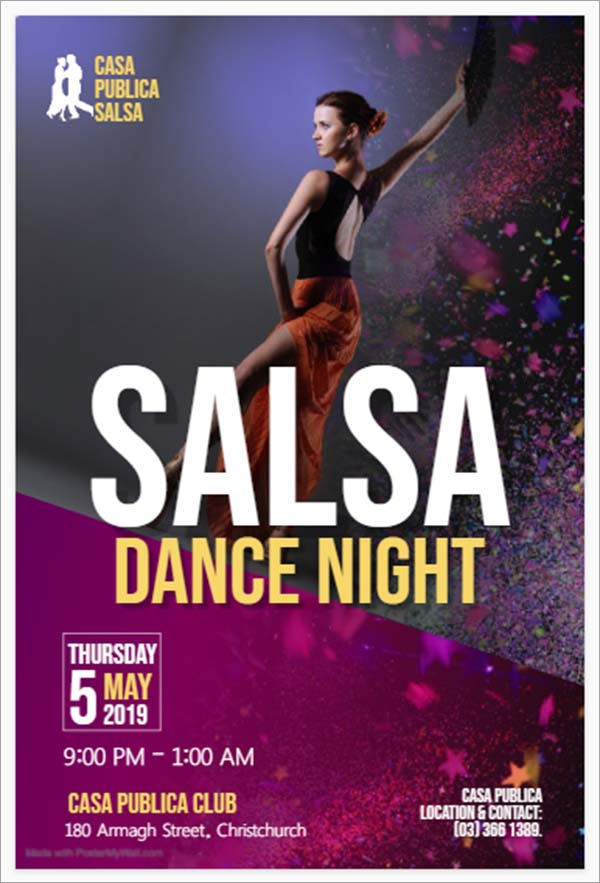 Free Salsa Dance Flyer Template