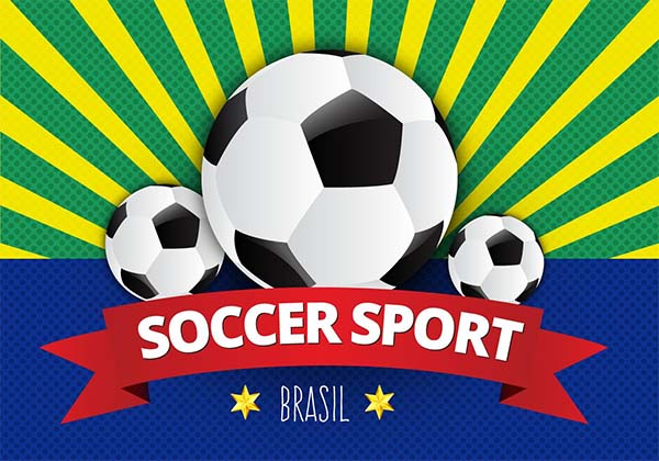 Free Soccer Poster Vector Template