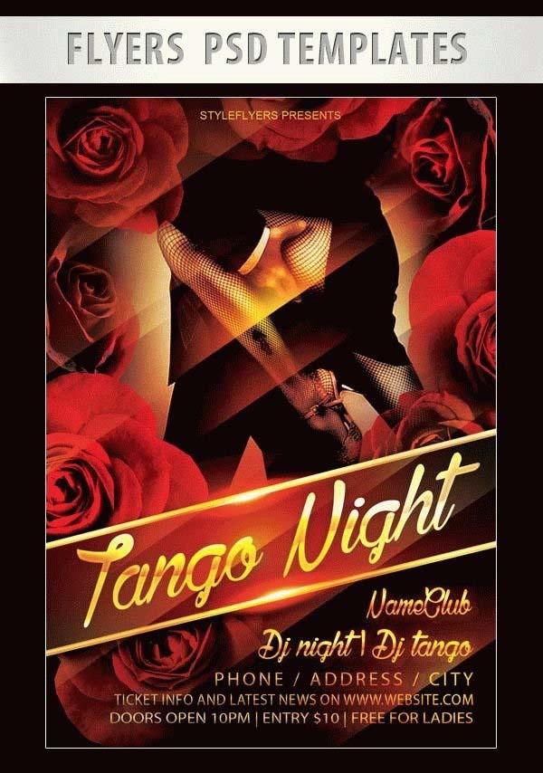 Free Tango Night Flyer