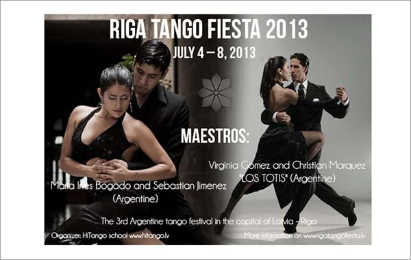 Free Tango Festival Flyer