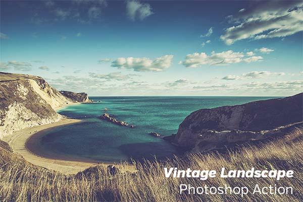 Free Vintage Landscape Photoshop Action