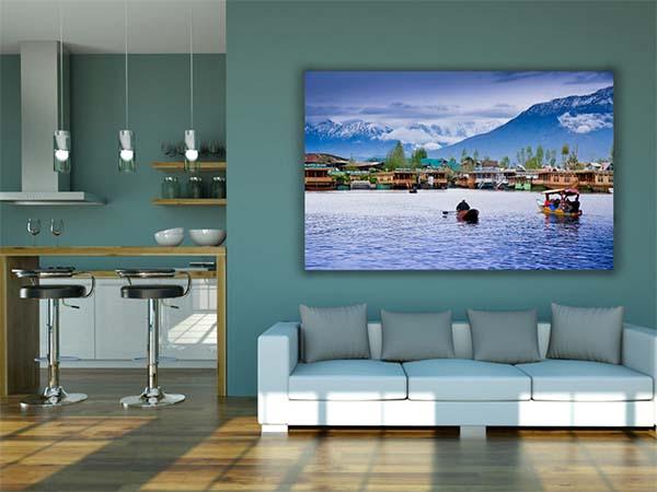 Free Wall of Living Room Mockup