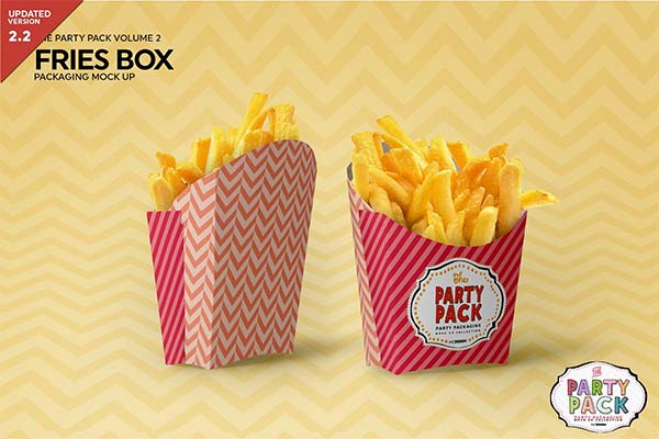 Fries Box Packaging Mockup