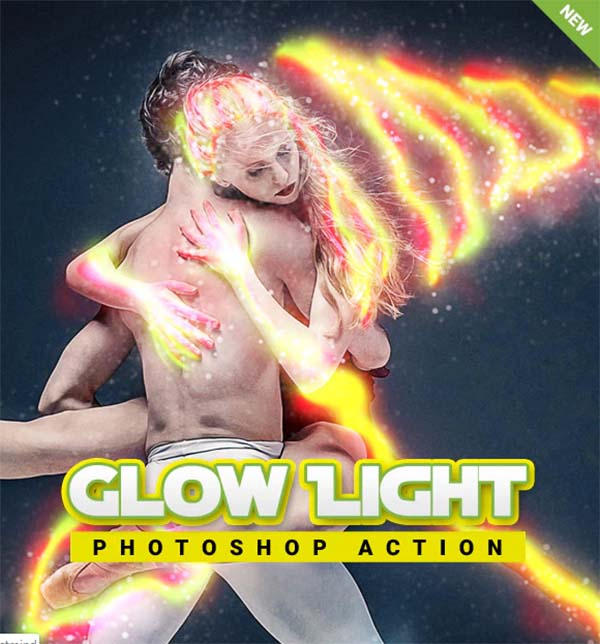 Glow Light Photoshop Action
