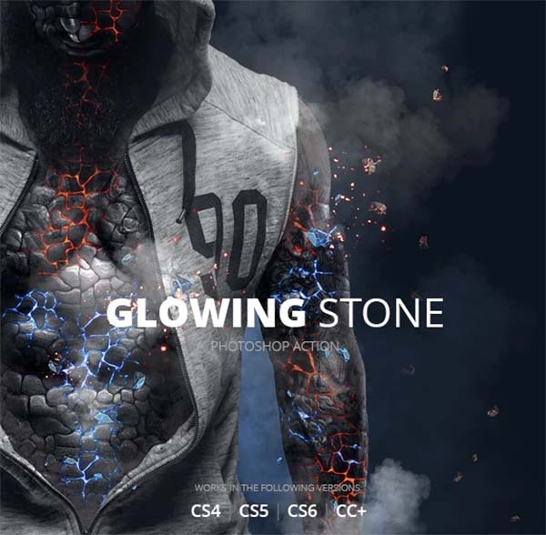 Glowing Stone Photoshop Action