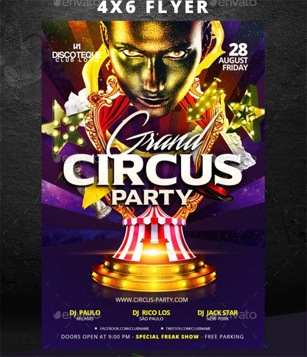 Grand Opening Circus Flyer Template