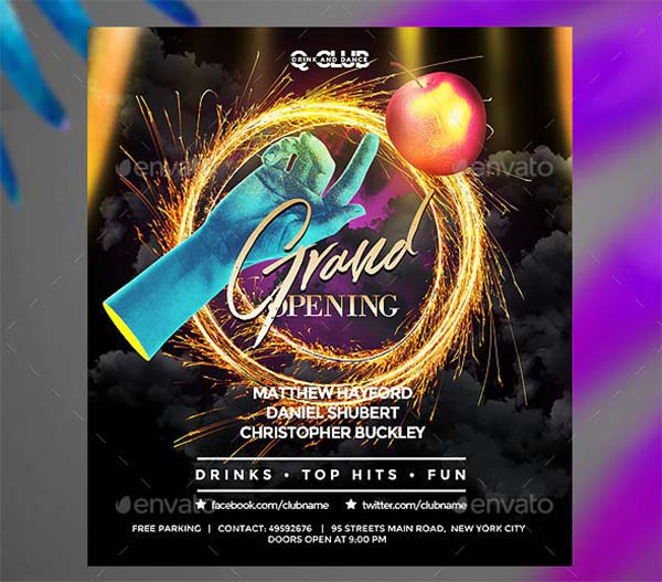 Grand Opening Club Flyer Template