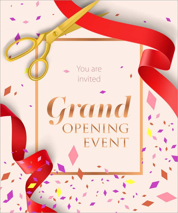 Grand Opening Event Free Flyer Template