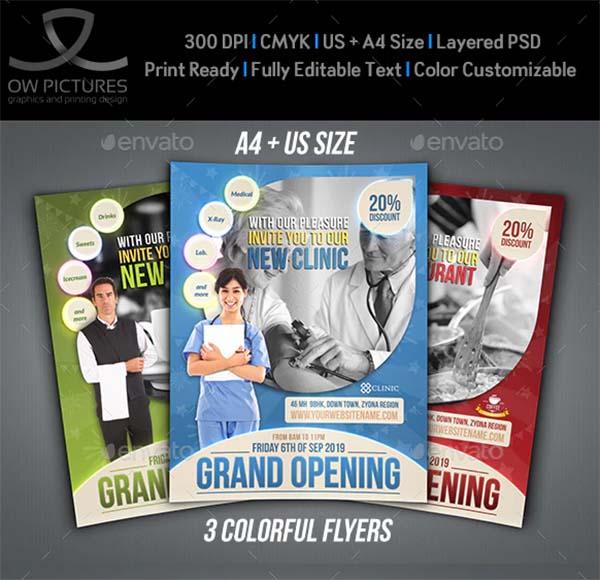 Grand Opening Flyer PSD Design