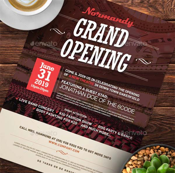 Grand Opening Flyers Design