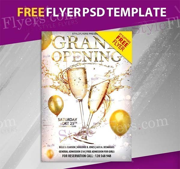 Grand Opening Free Flyer PSD Template