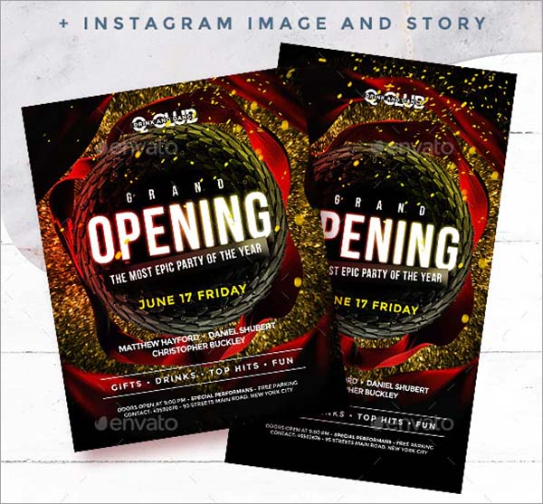 Grand Opening Night Club Flyer Template