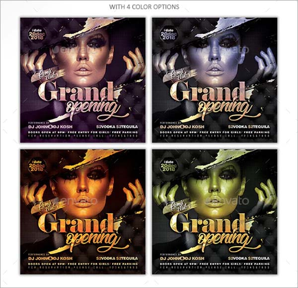 Grand Opening Party Event Flyer Template